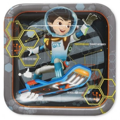 Miles from Tomorrowland Square Plates, 9""