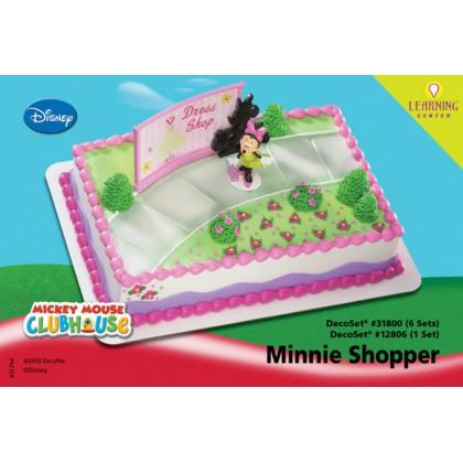 Mickey Friends Minnie Shopper Decoset