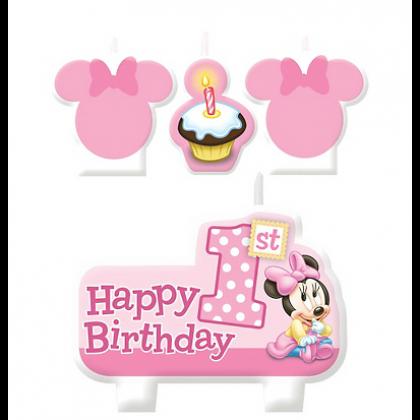 ©Disney Minnie's 1st Birthday Candle Set