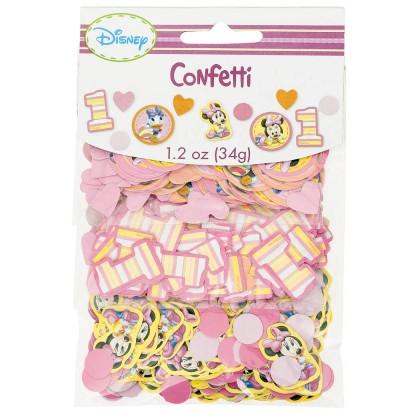 ©Disney Minnie's 1st Birthday Value Pack Confetti - Paper