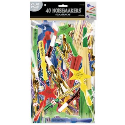 """15"""" x 9 1/2"""" Noisemakers Value Pack Jewel Tones - Paper, Foil & Plastic"""