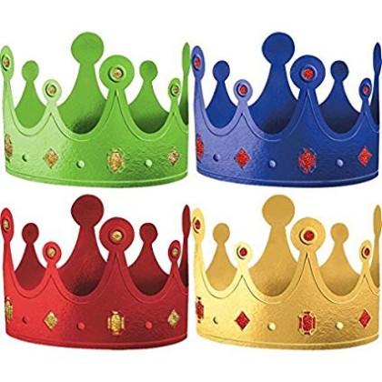 """5 1/4"""" x 22 1/2"""" Crowns - Rainbow Foil w/Glitter"""