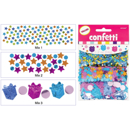 1.2 oz. Happy Birthday Girl Value Pack Confetti Mixes