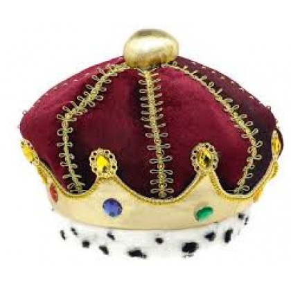 """7"""" x 7"""" Prince Crown Embellished Fabric"""
