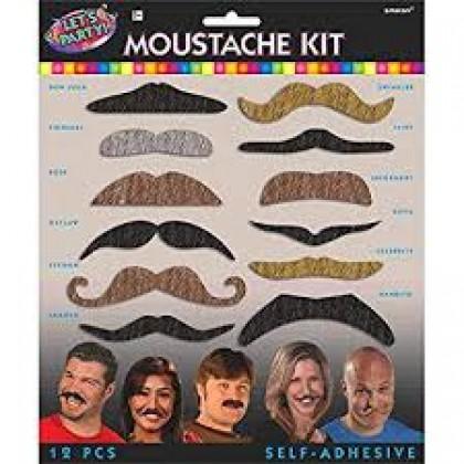 """3"""" Let's Party Mustache Kit"""