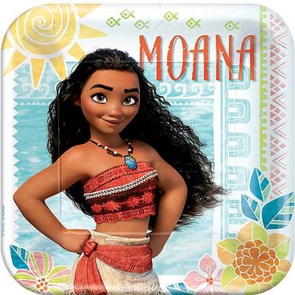 Disney Moana Square Plates, 9 in