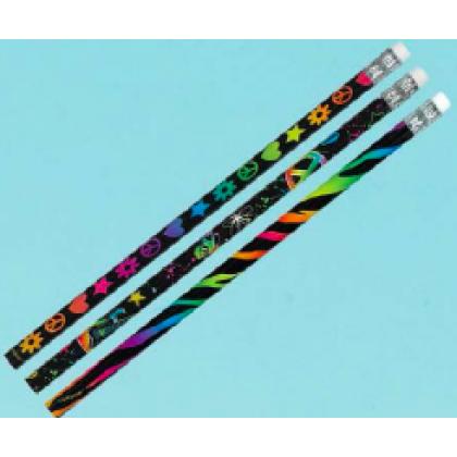 Neon Birthday Pencil Favors