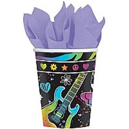 Neon Birthday Cups, 9oz.