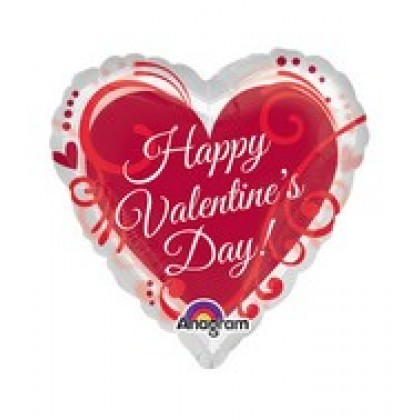 "P35 26"" Happy Valentine's Day To You See-Thru™ SuperShape™"