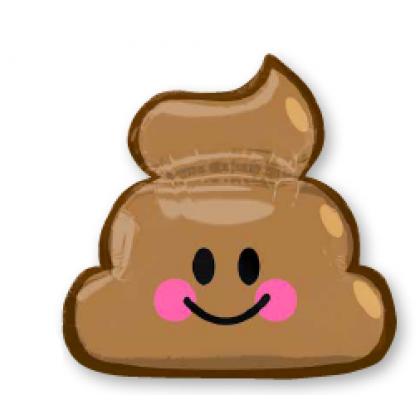 """P30 25"""" Emoticon Poop SuperShape™ XL®"""