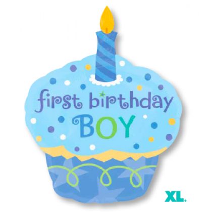 "P35 36"" Sweet Little Cupcake Boy SuperShape™ XL®"