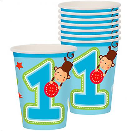 """One"" Wild Boy Cups, 9 oz."