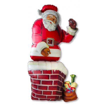 "P70 53"" Santa and Chimmey Giant Multi-Balloon"