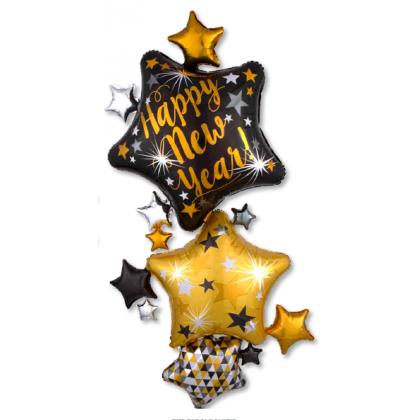 """P70 67"""" New Year Start Stacker Giant Multi-Balloon"""