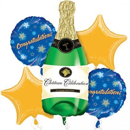 P75 Champagne Bottle Bouquet