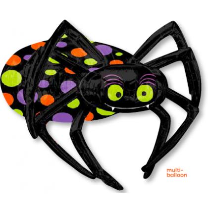 """P75 33"""" Halloween Spider Multi-Balloon"""