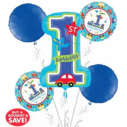 P75 1st Birthday All Aboard Bouquet