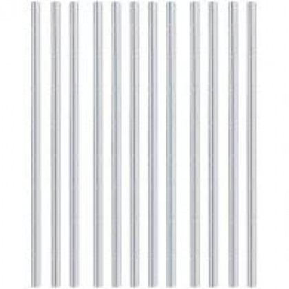 """7 3/4"""" x 1/4"""" Solid Straws Paper - Silver"""