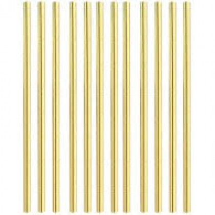 """7 3/4"""" x 1/4"""" Solid Straws Paper - Gold"""