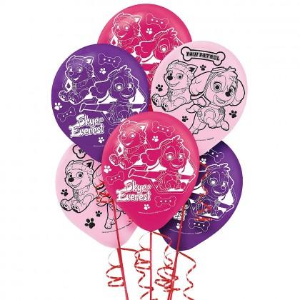 Paw Petrol™ Girl Latex Balloons - Asst. Colors