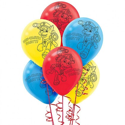 Paw Patrol Printed Latex Balloons - Asst. Colors