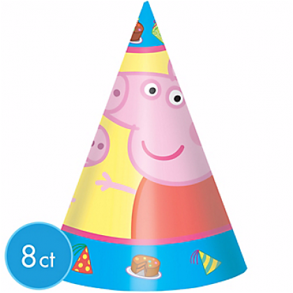 Peppa Pig™ Cone Hats - paper
