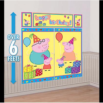 Peppa Pig™ Scene Setters® Wall Decorating Kit - Plastic