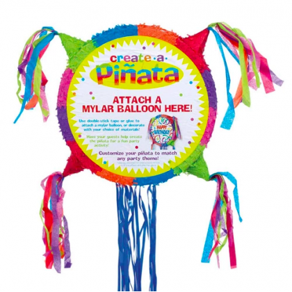 Pastel - Blank for Mylar Balloon Deluxe Conventional Pull Piñata