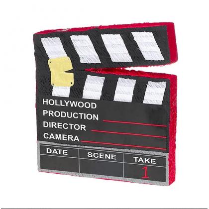 """19 1/4""""H x 17 3/4""""W x 3""""D Director's Cut Clapboard Conventional Piñata"""