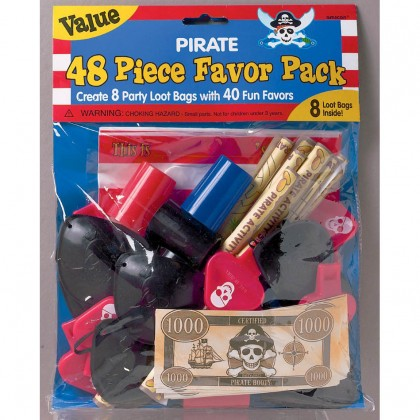 Pirate's Treasure Mega Mix Value Pack Favors
