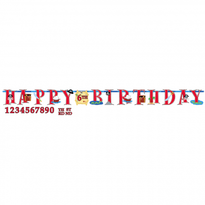 Pirate's Treasure Jumbo Add-An-Age Letter Banner - Printer Paper