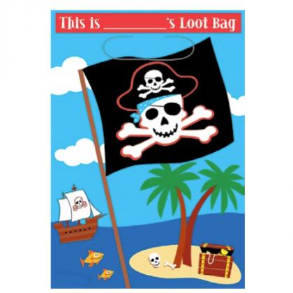 Pirate's Treasure Loot Bags - Plastic