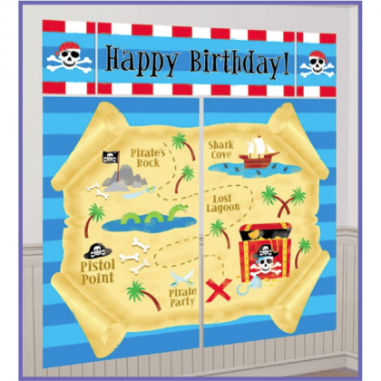 Pirate's Treasure Scene Setters® Wall Decorating Kit - Plastic