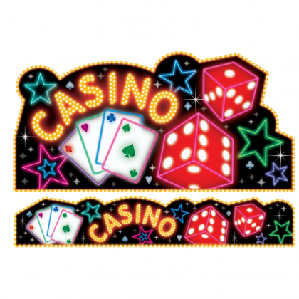 Place Your Bets Casino Giant Cutout & Banner Set