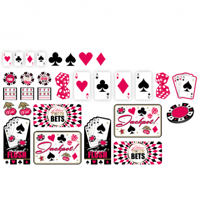 Place Your Bets Value Pack Cutouts - Printed Paper
