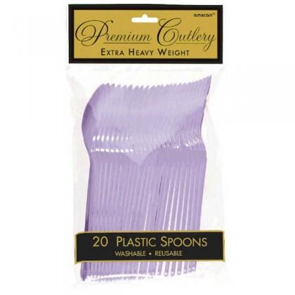 Plastic Spoons - Lavender