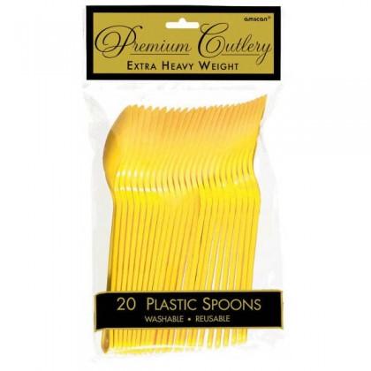 Plastic Spoons - Yellow Sunshine