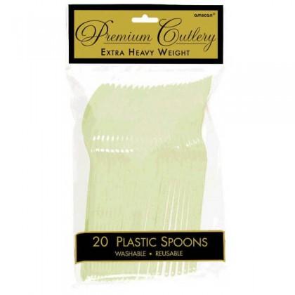 Plastic Spoons - Leaf Green