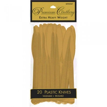 Plastic Knives - Gold