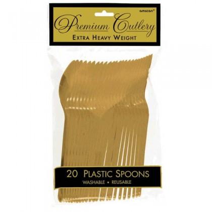 Plastic Spoons - Gold
