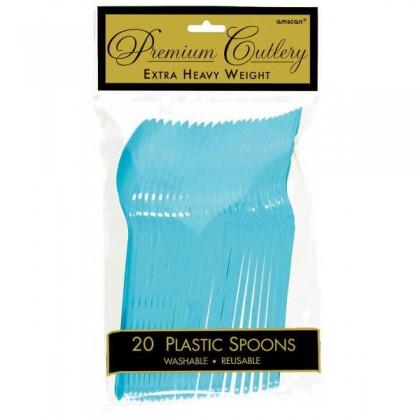Plastic Spoons - Caribbean Blue