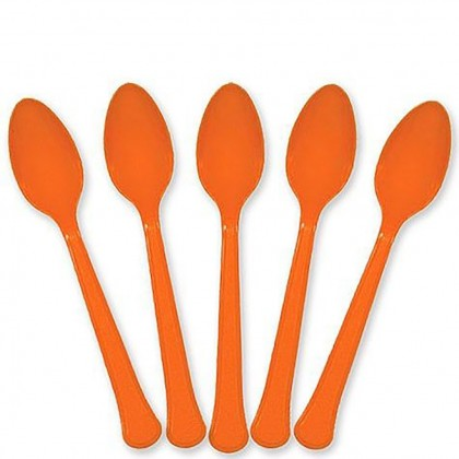 Plastic Spoons - Orange Peel