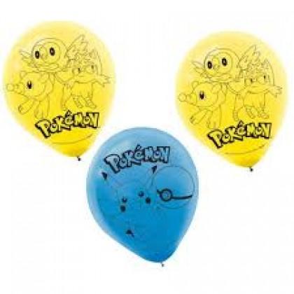Pokémon Core Printed Latex Balloons - Asst. Colors