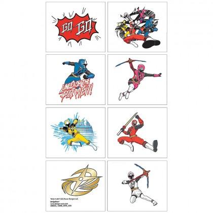 Power Rangers Ninja Steel Tattoo Favors