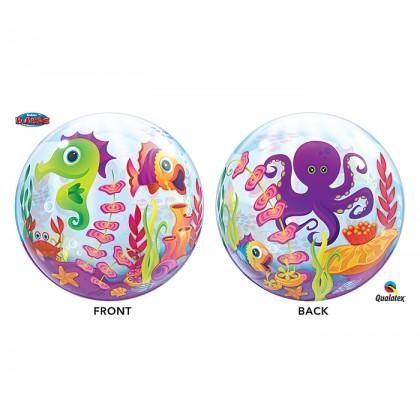 """Q 22"""" UnderWater Sea Animals Bubble Balloon"""