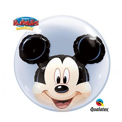 "Q 22"" Disney Mickey DoubleBubble Balloon"