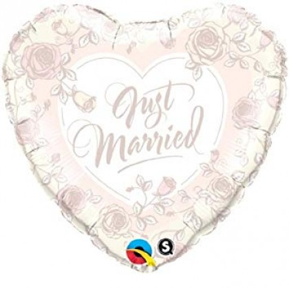 """Q 18"""" Just Married Rose"""