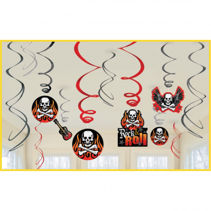 Rock On Value Pack Foil Swirl Decorations