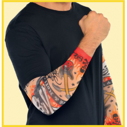 Rock On Tattoo Sleeve - Fabric