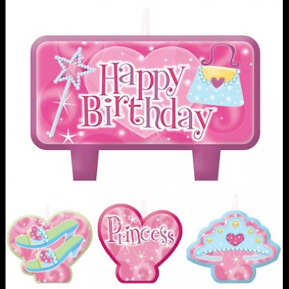 Princess Birthday Candle Set